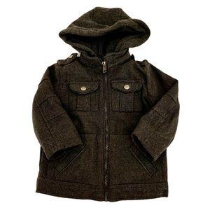 URBAN REPUBLIC Gray Hooded Coat